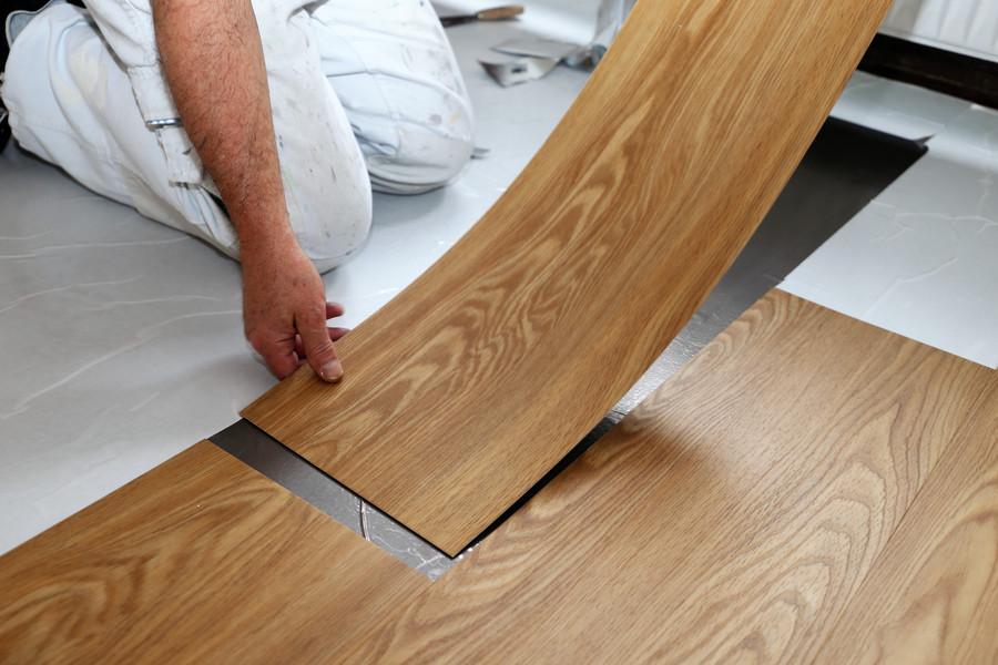 Vinilinės grindys, PVC danga