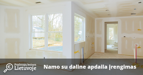 Kiek kainuoja įrengti namą su daline apdaila Vilniuje 2019 m?
