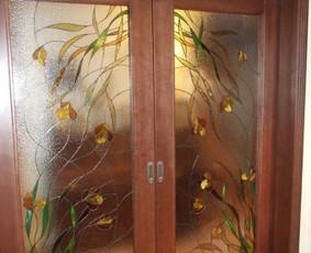Vitražai, stiklo interjero detalės