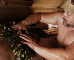 Profesionalus pirtininkas-masažuotojas, Dūminė pirtis