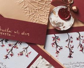 Vestuvių, krikštynų atvirukai, stalo kortelės, kvietimai