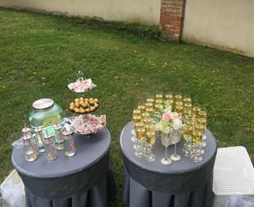 Aptarnavimas po ceremonijos/ Šampano staliukai/ Indų nuoma
