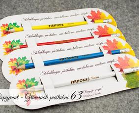 Pieštukai su vardu ar logotipu, vardiniai spalvoti pieštukai
