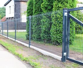Segmentinė tvora, vartai, varteliai. Montavimo darbai