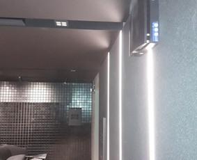 Sieninių mini rekuperatorių montavimas