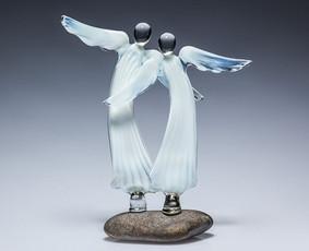 Vitražai, stiklo interjero detalės,stiklo skulptūros,angelai