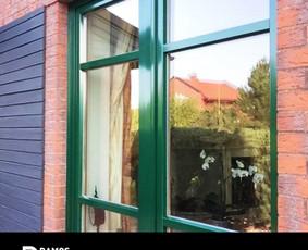 Medinių langų kaustymas aliuminio profiliais