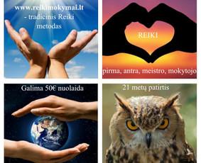 Reiki mokymai Vilniuje, Kaune, Klaipėdoje