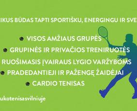 Lauko teniso treniruotės Vilniuje(ATNAUJINTA!)