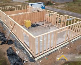 Karkasinių namų statyba, gamyba