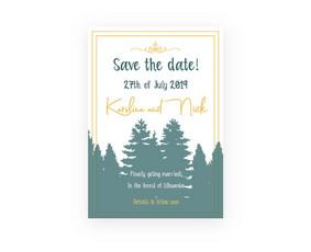 Vestuvių pakvietimų ir kitas vestuvių spaudos dizainas