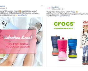 Reklama internete - Facebook, Instagram