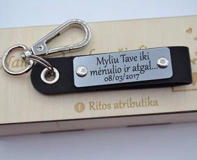 Odiniai raktų pakabukai,