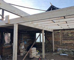Stogdengiai, stogų darbai, karkasinės konstrukcijos, fasadai