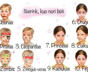 Piešimas ant veidukų