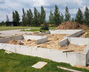 Pamatų įrengimas, perdangų betonavimas