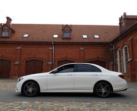 Naujausio balto Mercedes nuoma vestuvėms , kelionėms