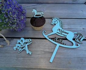 Tortų smeigtukai, keksiukų dekoras, stalo kortelės