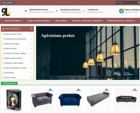 Interneto svetainių, bei parduotuvių kūrimas,  SEO