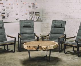 Išskirtiniai, vienetiniai ąžuolo baldai