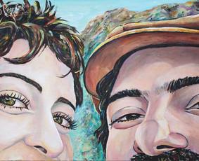Spalvingi portretai ir sienų tapyba