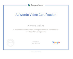 Sertifikuota Google Adwords, FB Reklama