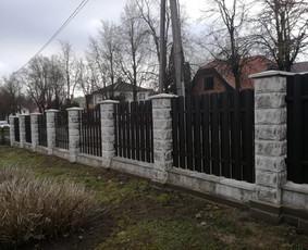 Tvoros, Vartai, Varteliai, Betonavimas