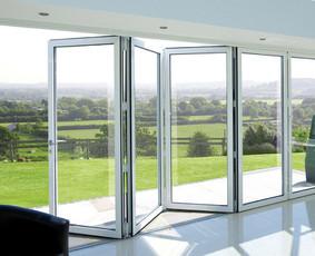 Aliuminio konstrukcijos - durys, langai.