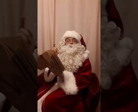 Profesionalus aktorius - Kalėdų senelis!