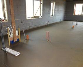 Grindų betonavimas / Šildomų grindų betonavimas