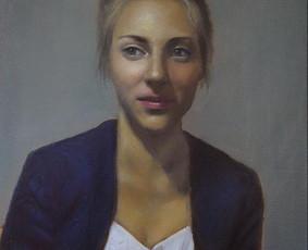 Profesionali portretų tapyba. Portretų piešimas iš nuotraukų