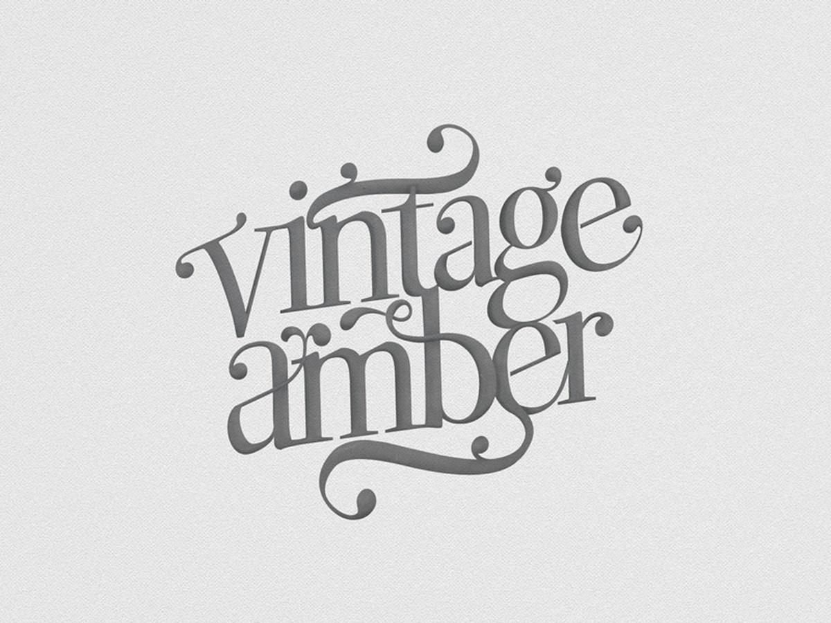 Vintage Amber gintaro parduotuvės logotipas. Logotipų, prekinių ženklų ir ikonų kūrimas.  / Kaina nuo 199 eur už projektą / www.baltaideja.lt