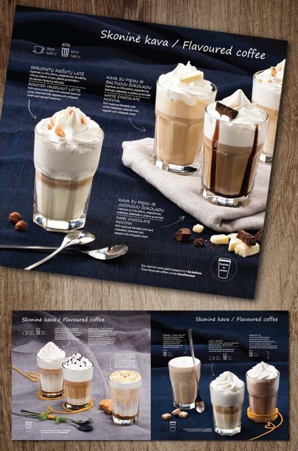 Skoninių kavų meniu   ČILI PICA Flavoured coffee menu   ČILI PICA