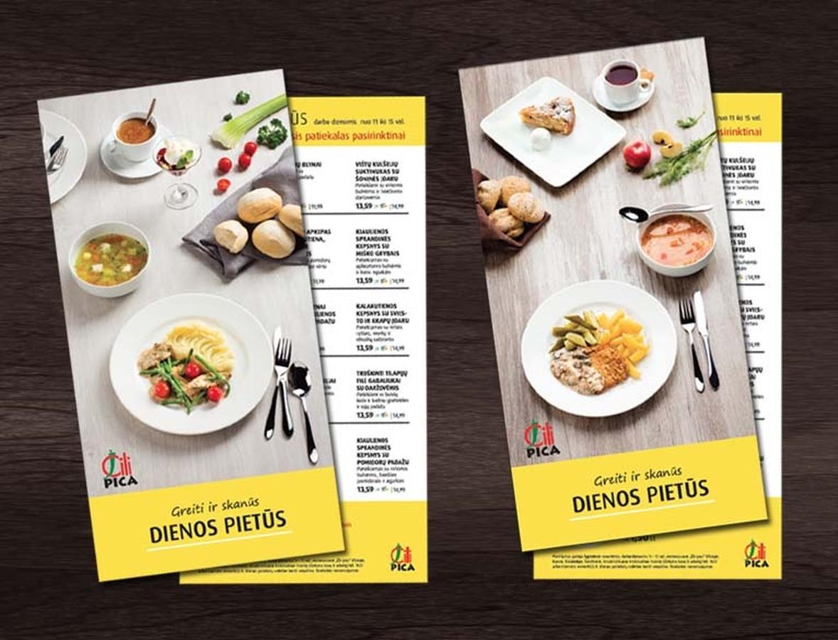 Dienos pietų meniu / Lunch menu | ČILI PIZZA