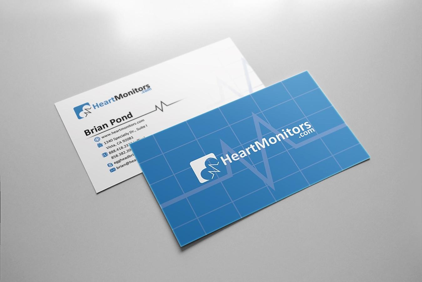 Heartmonitors.com vizitinių kortelių maketas.