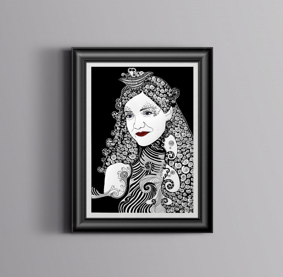 Kūrybinis portretas, A2 formatas.