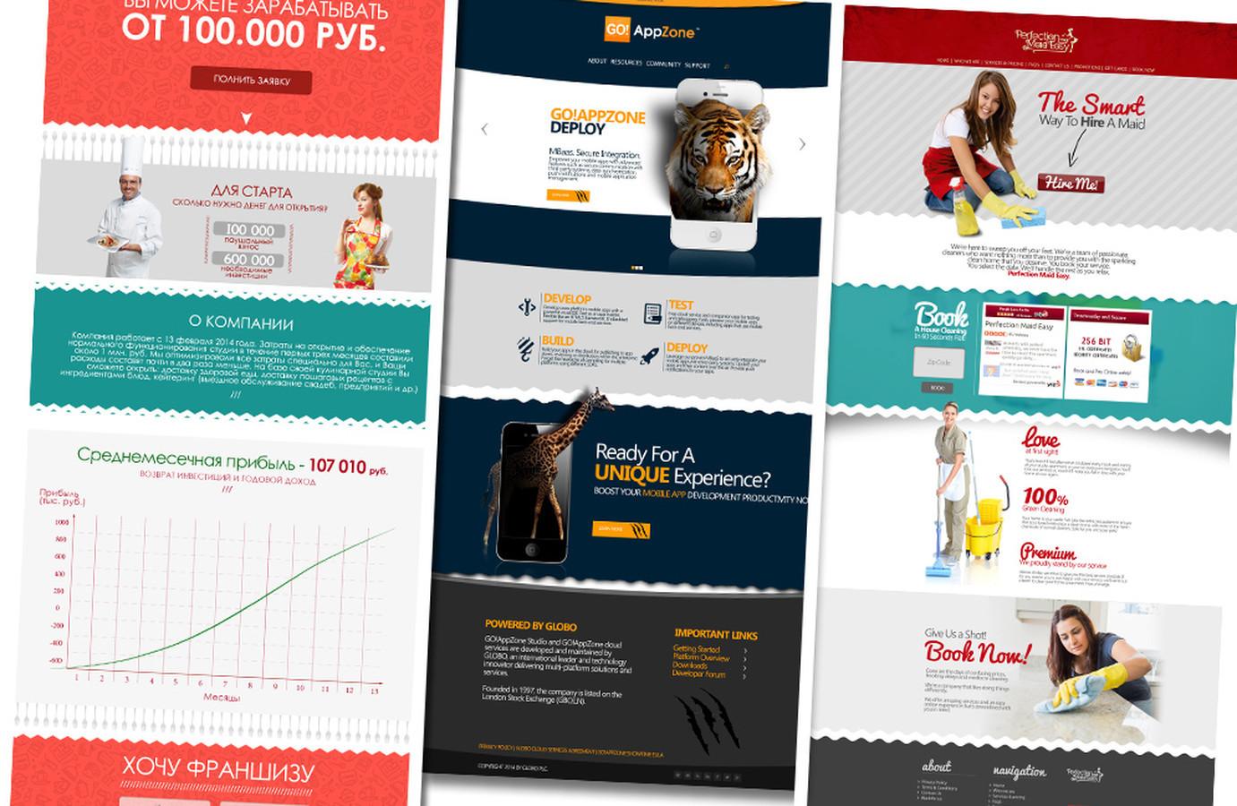 Įvairūs Web dizaino projektai