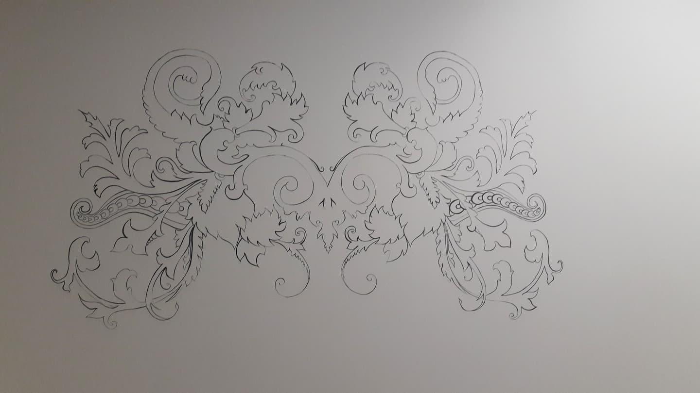 Sienos dekoras senamiesčio interjere