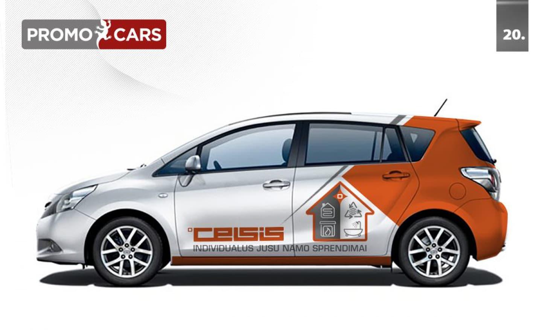 Reklamos projektavimas ant transporto priemonių.