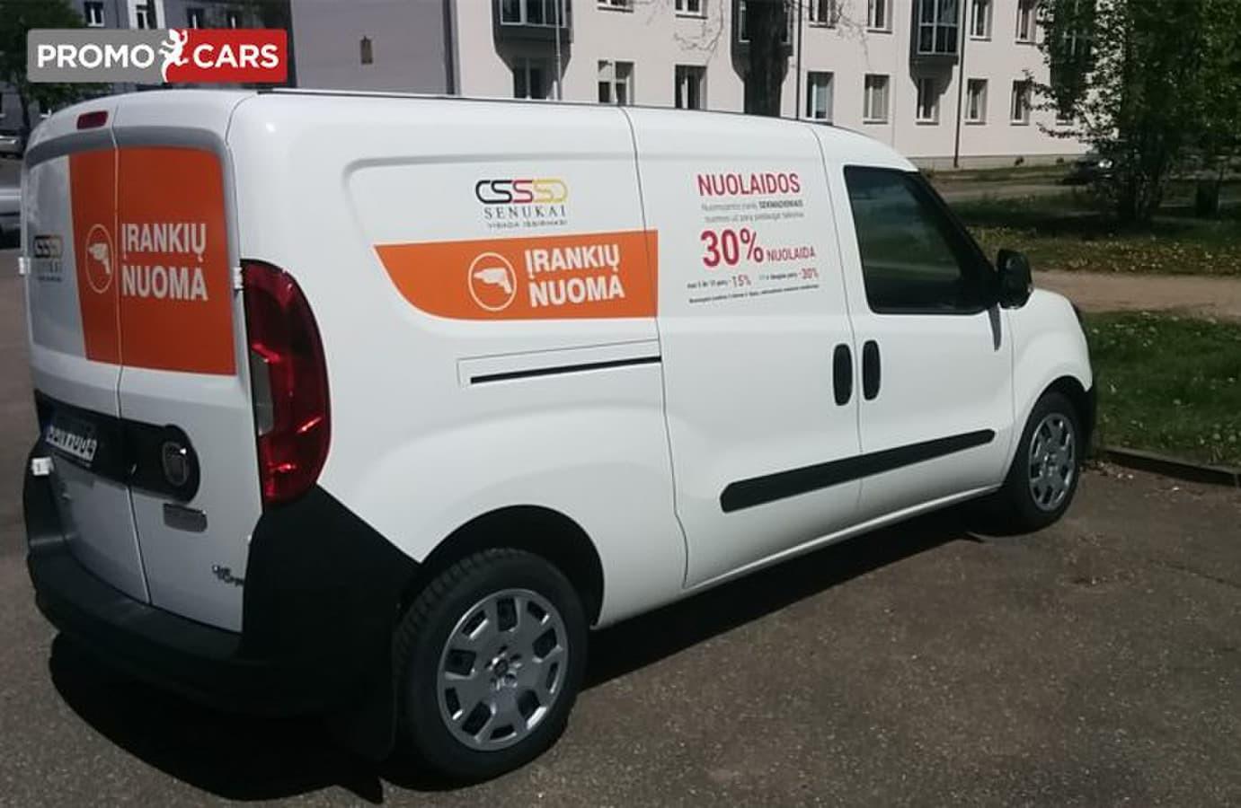 Transporto priemonių apklijavimas reklama, lipdukai ant automobilio, sunkvežimių apklijavimas ir nulupimas