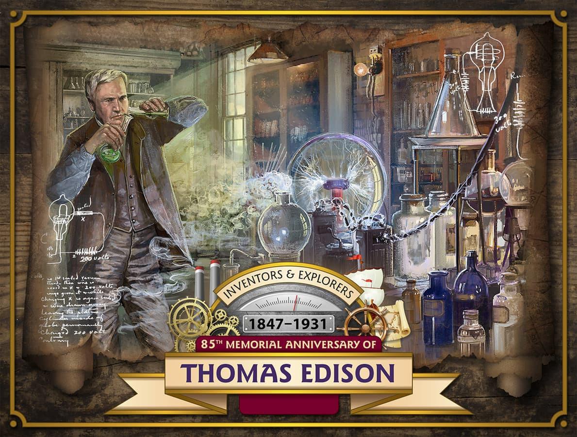 Tomas Edisonas. laboratorija.