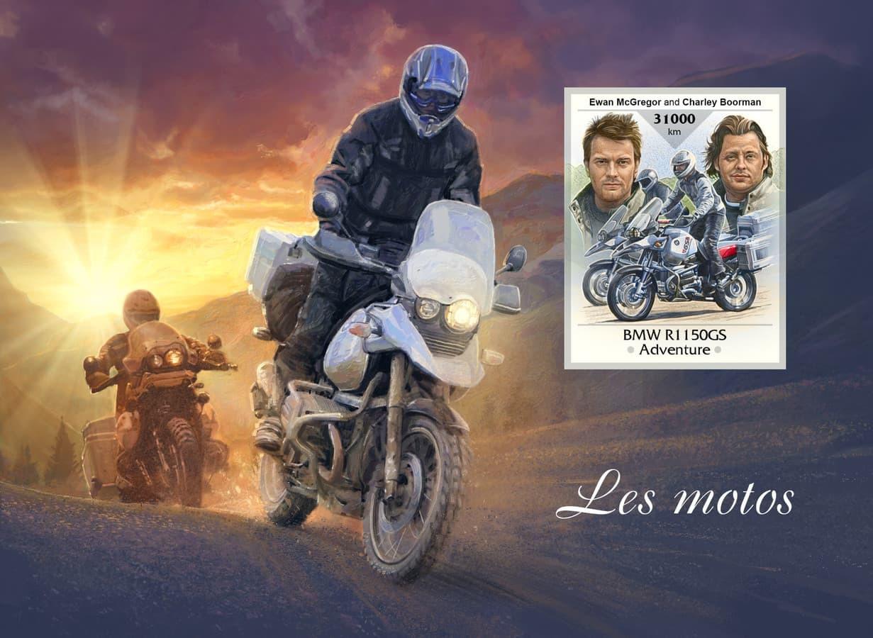 Evanas Makgregoras (Ewan McGregor) ir Čarlis Burmanas (Charley Boorman). Kelionė aplink pasaulį. Motociklo BMW R1150GS Adventure iliustracija.