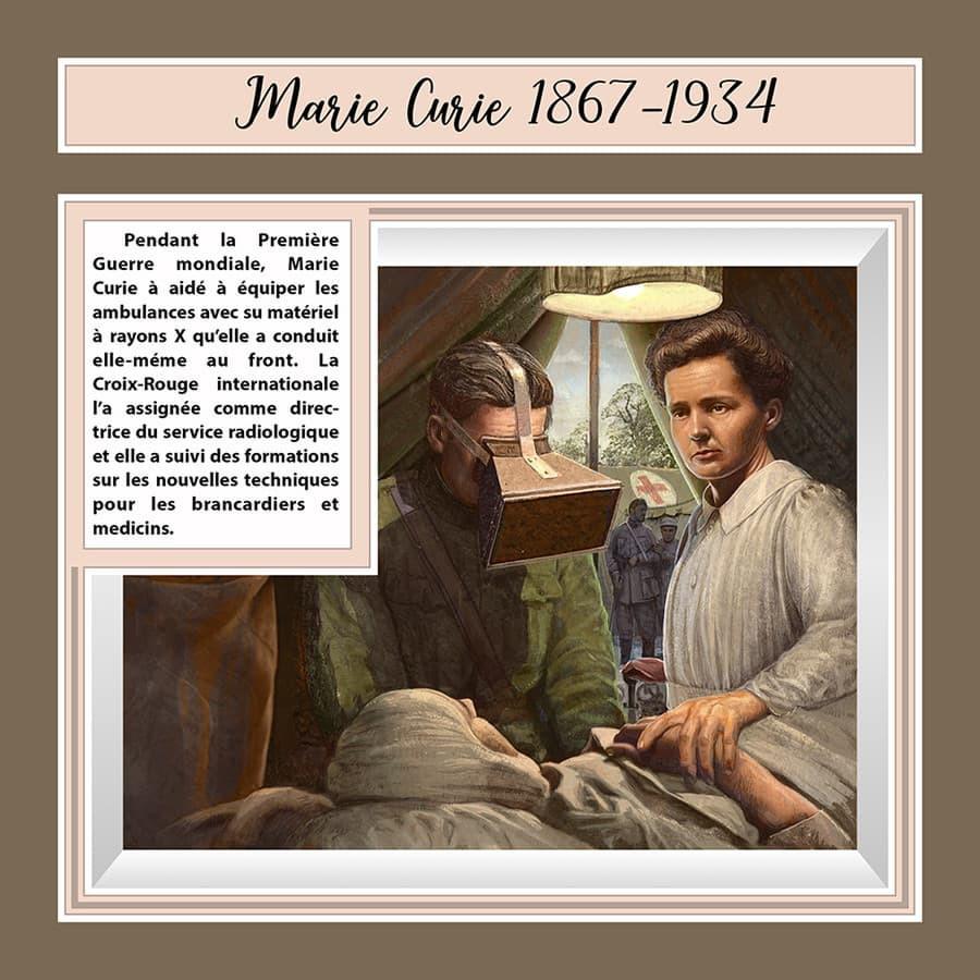 Lenkų-prancūzų mokslininkė Marija Kiuri pirmojo pasaulinio karo metu dirbo karo lauko ligoninėje. Iliustracija.