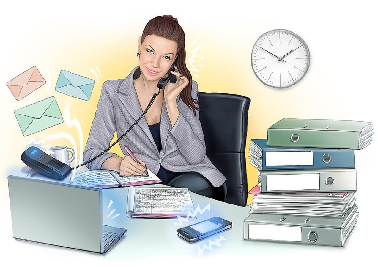 Biuro personalo iliustracijos