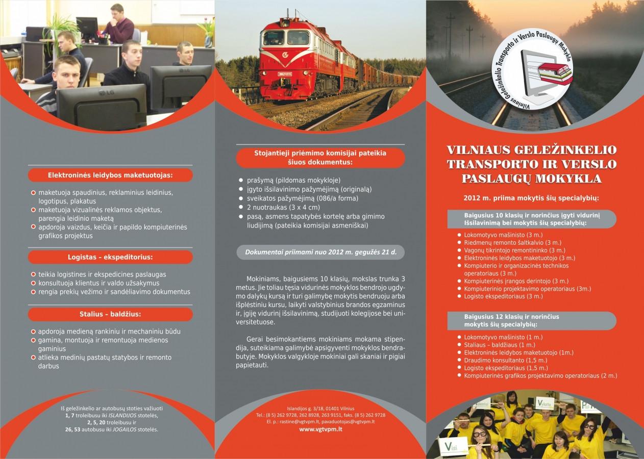 Lankstinuko viršelis geležinkeliečiams (3-4 val. skirta maketavimui)