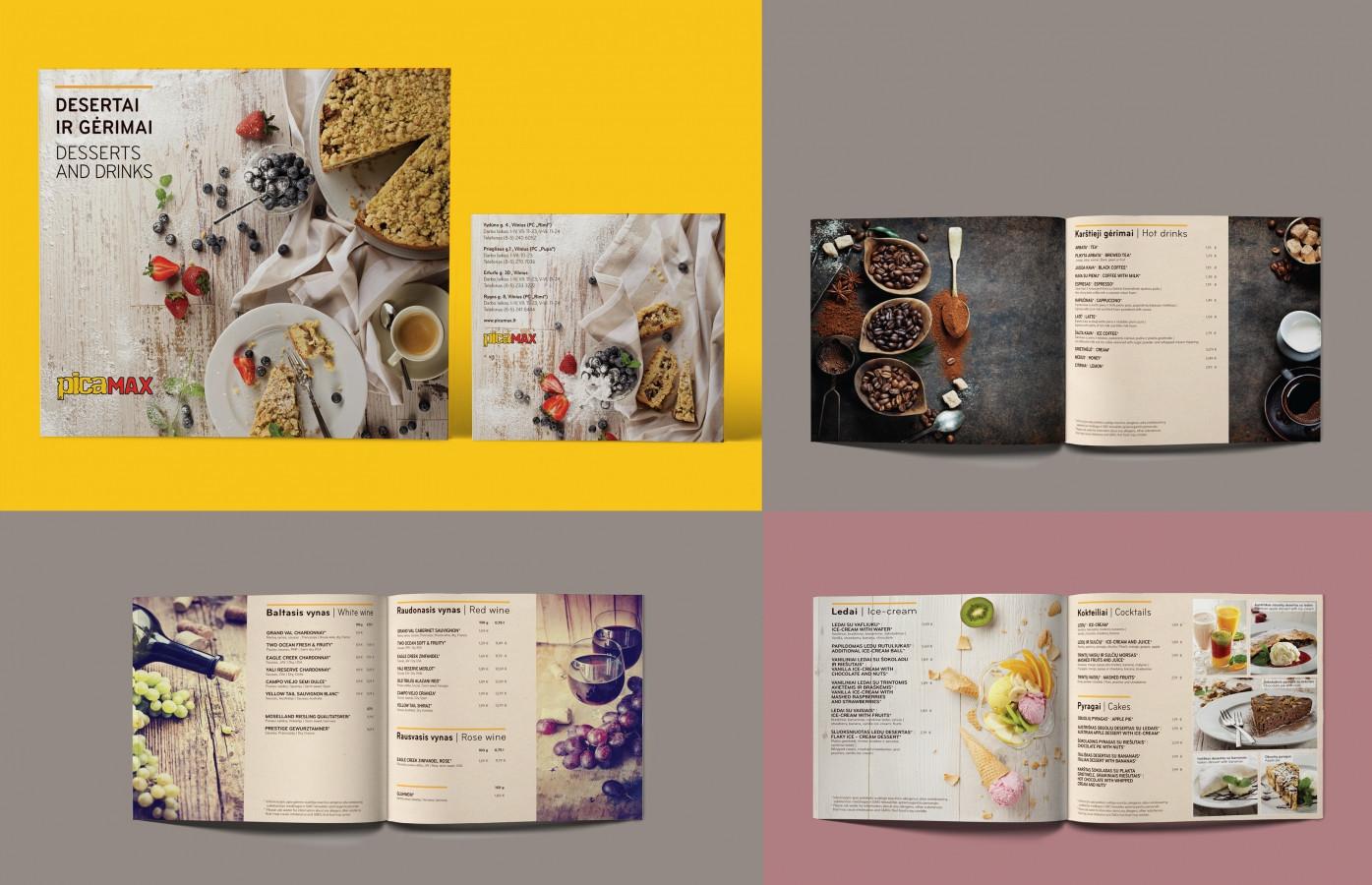 Desertų ir gėrimų meniu / Desserts and drinks menu   PICA MAX Peržiūrėti čia / Review here  http://issuu.com/salvitadesign/docs/gerimu_meniu_web… Idea, food styling, design - Salvita, photography: foto@grafas.lt, Shutterstock