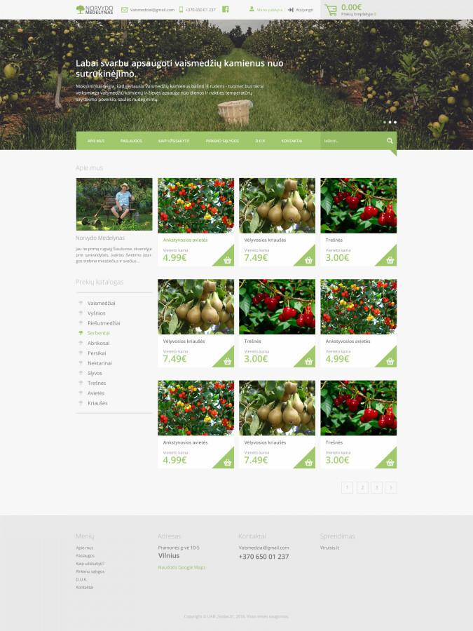 Norvydo Medelynas - Šiuolaikiškas web dizainas