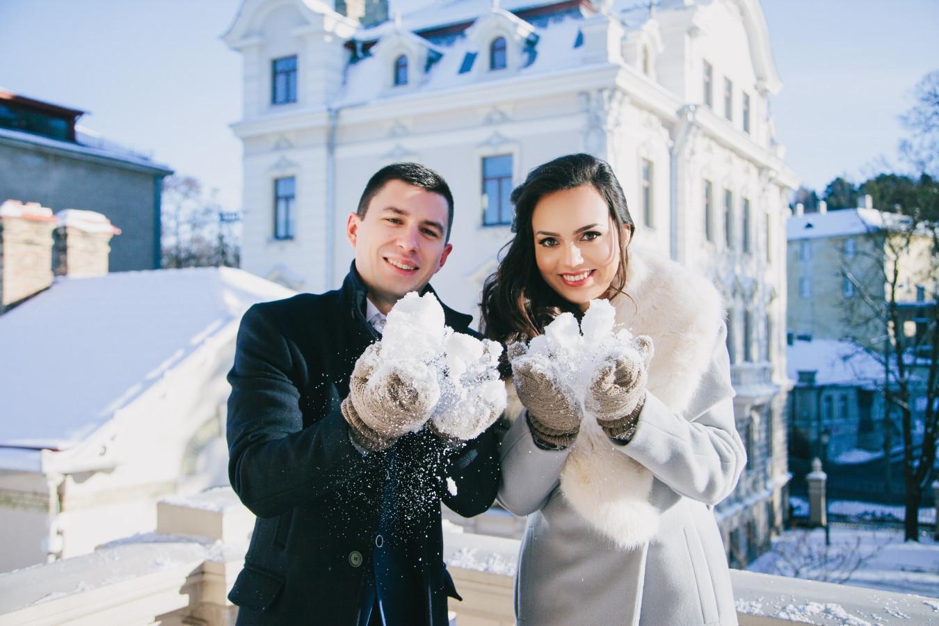 Vestuvių fotografavimas žiema