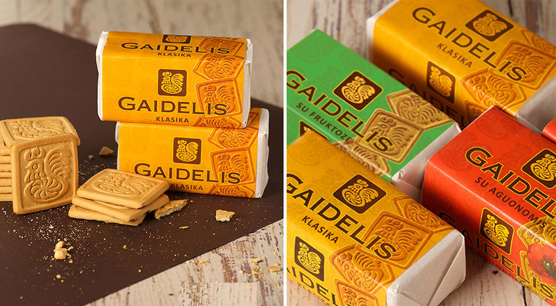Atnaujintos sausainių GAIDELIS pakuotės | GAIDELIS biscuits rebranging