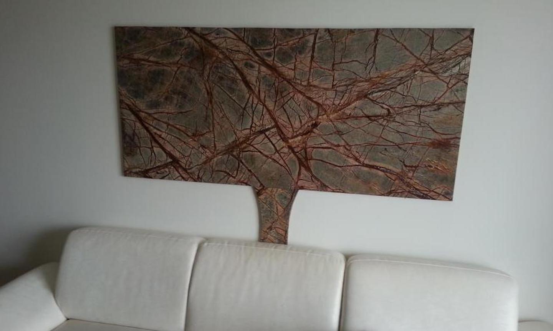 Sienos apdaila iš natūralaus marmuro